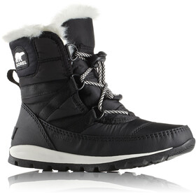 Sorel Youth Whitney Short Lace Boots Black/Sea Salt